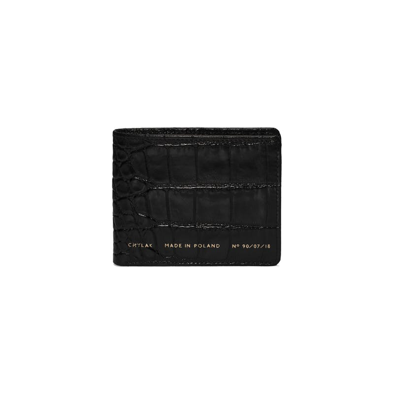 "Boyfriend Wallet ""glossy black crocodile"""