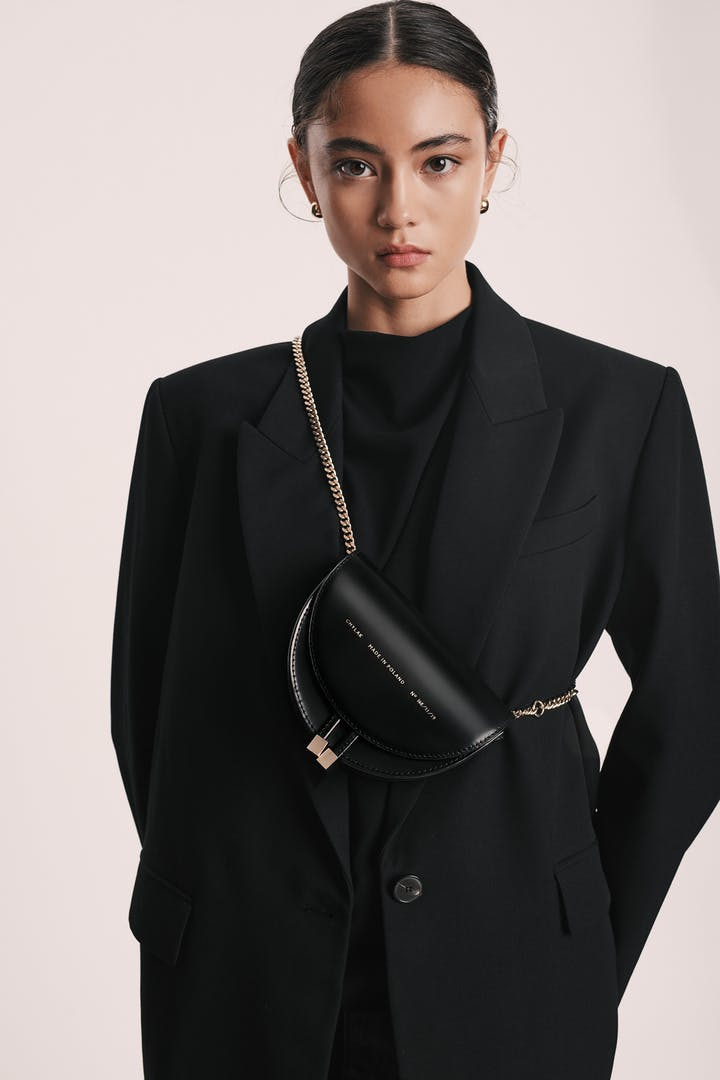 "Mini Saddle Bag ""glossy black"""