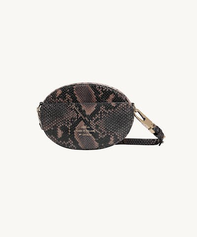 "Ellipse Shoulder Bag ""brown python"""