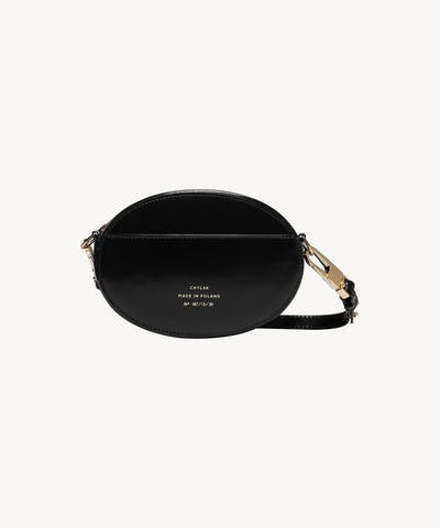 "Ellipse Shoulder Bag ""glossy black"""