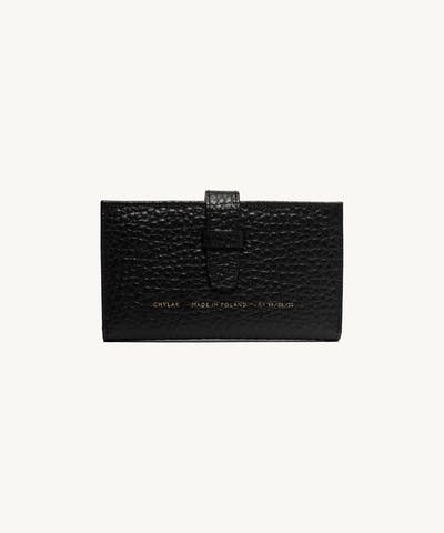 "Big Classic Wallet ""black pebbled leather"""