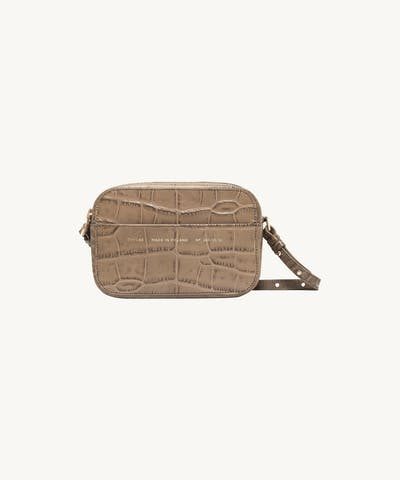 "Camera Bag ""beige crocodile"""
