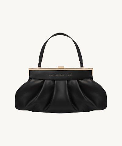 Dumpling Clasp Bag Black