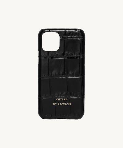 "iPhone Case ""glossy black crocodile"""