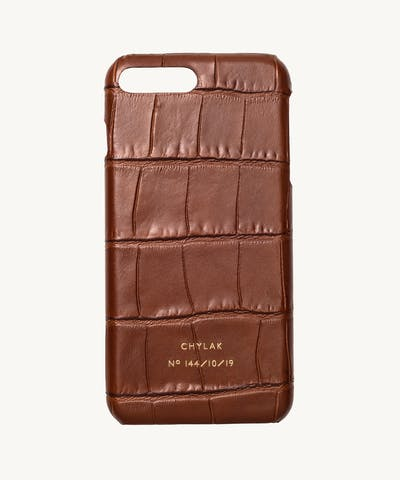 "iPhone Case ""glossy caramel crocodile"""