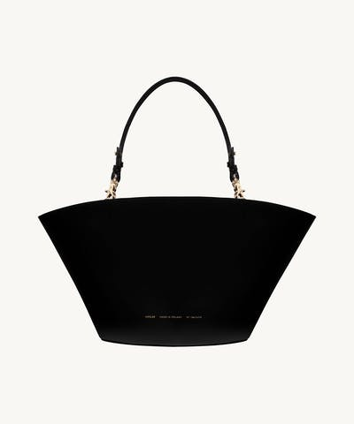 "Maxi Basket Bag ""glossy black"""