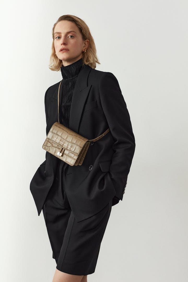 "Mini Belt Bag ""beige crocodile"""