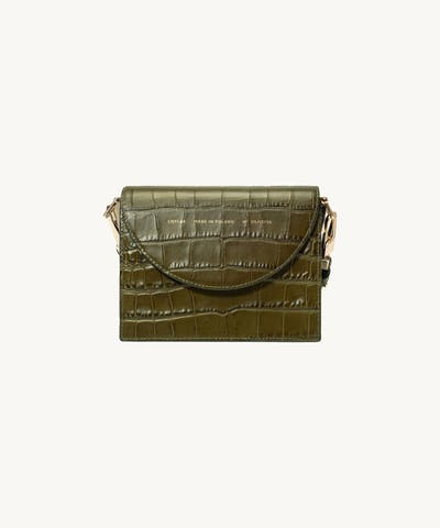 "Retro Bag ""olive crocodile"""