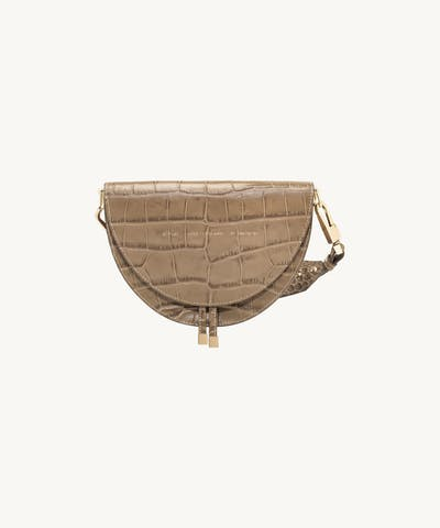 "Saddle Bag ""beige crocodile"""