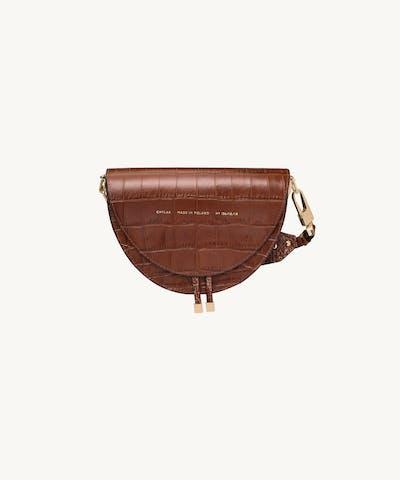 "Saddle Bag ""glossy caramel crocodile"""