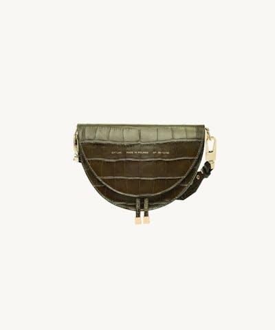 "Saddle Bag ""olive crocodile"""