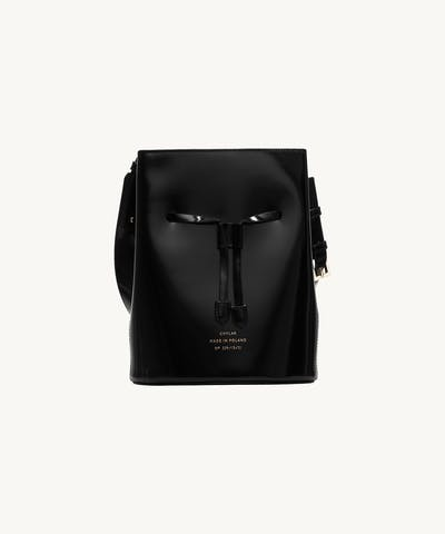 "Structured Bucket Bag ""glossy black"""