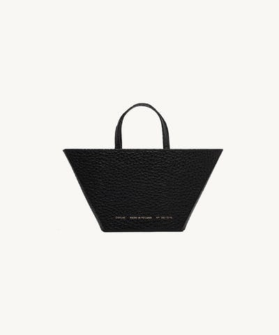 "Trapeze Bag ""black pebbled leather"""
