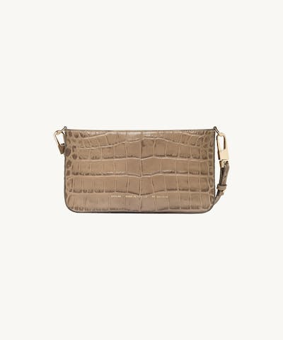 "Underarm Bag ""beige crocodile"""