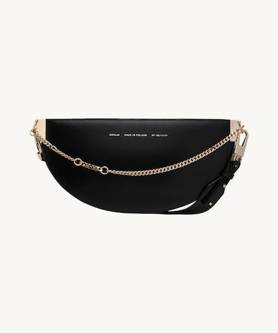 "Wide Saddle Bag ""glossy black"""