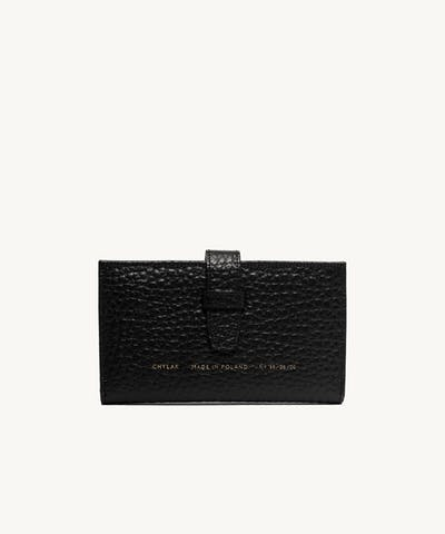 """Big Classic Wallet """"black pebbled leather"""""""