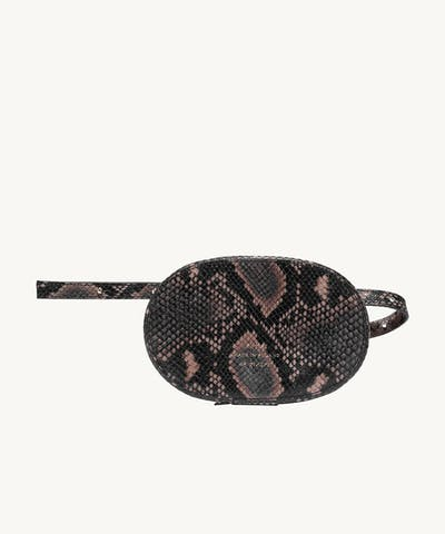 "Ellipse Bag ""brown python"""