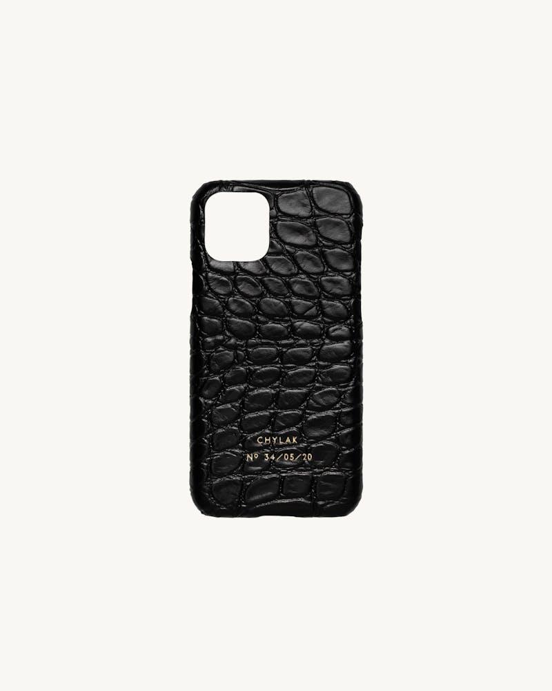 "iPhone Case ""glossy black crocodile"" #1"