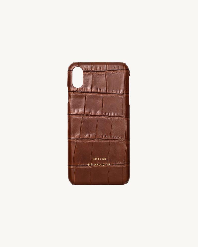 "iPhone Case ""glossy caramel crocodile"" #1"