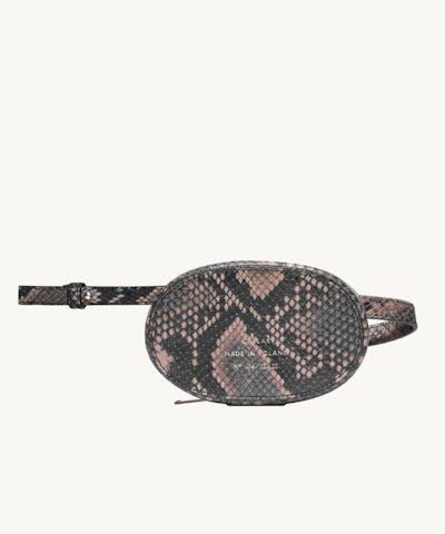 "Mini Ellipse Bag ""brown python"""