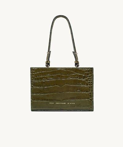 """Mini Tote Bag """"olive crocodile"""""""