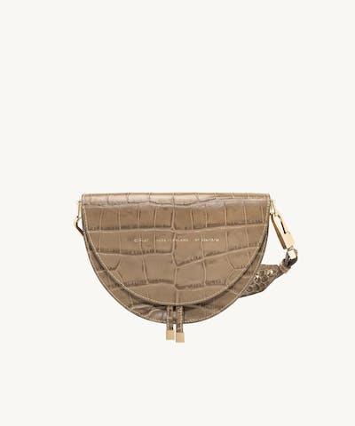 "Saddle Bag ""beige crocodile"""
