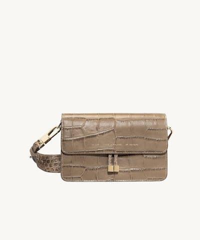 """Shoulder Bag """"beige crocodile"""""""