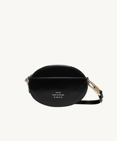 """Ellipse Shoulder Bag """"glossy black"""""""