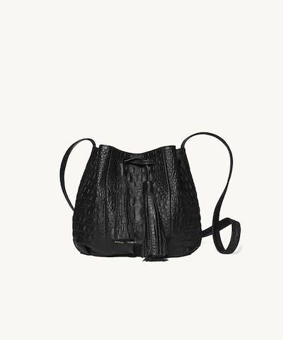 "Small Bucket Bag ""crocodile"""