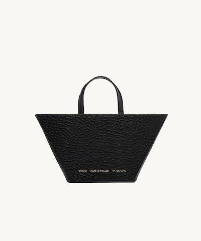 "Trapeze Bag ""black pebbled leather"""