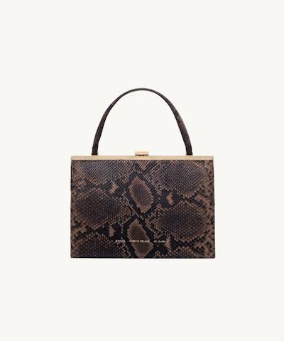 """Vintage"" Clasp Bag ""brown python"""