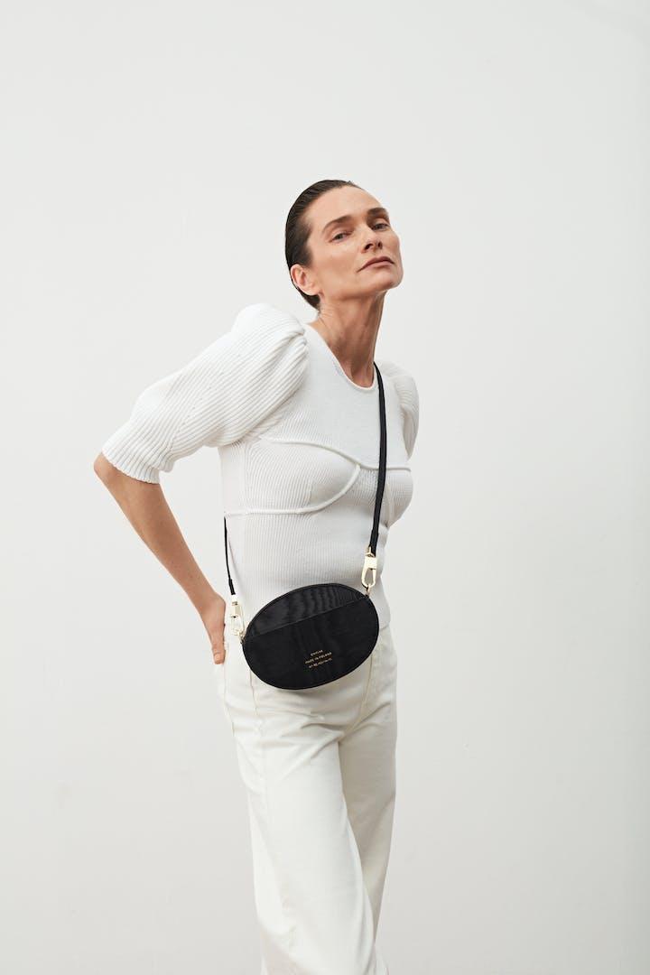 Ellipse Shoulder Bag Moiré Black