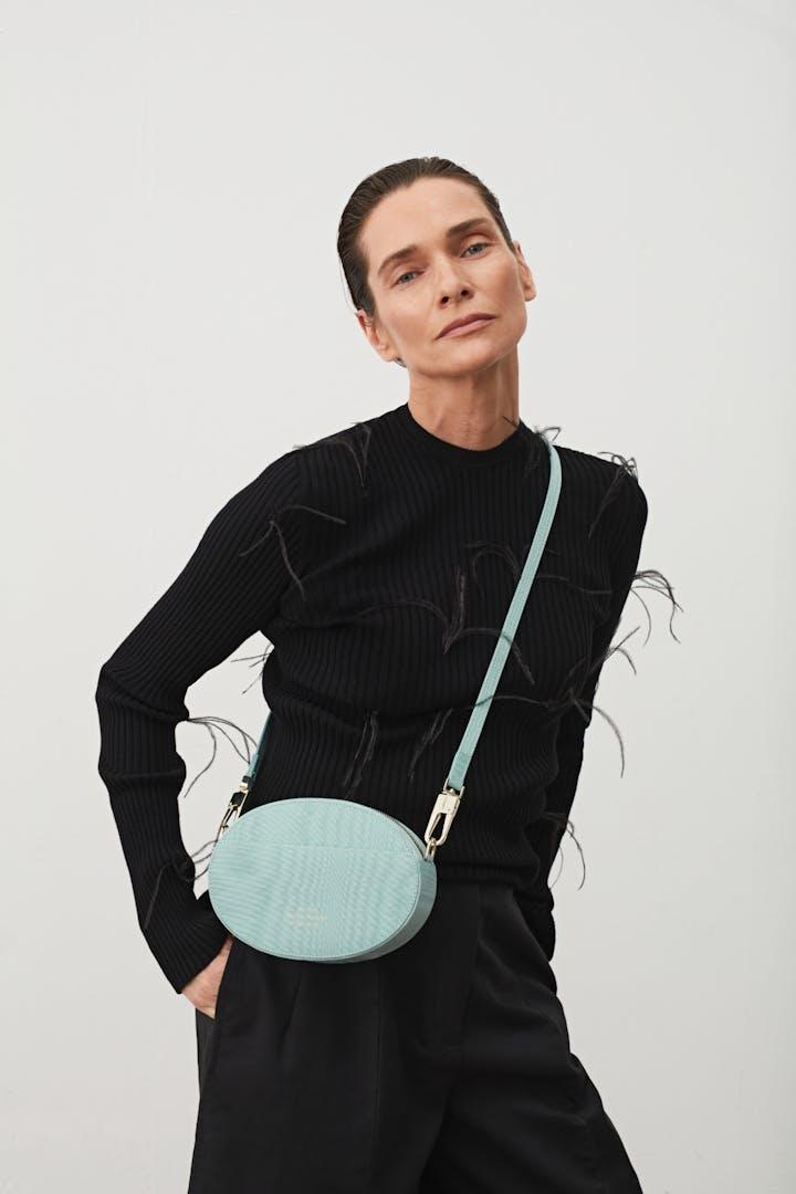 Ellipse Shoulder Bag Moiré Blue