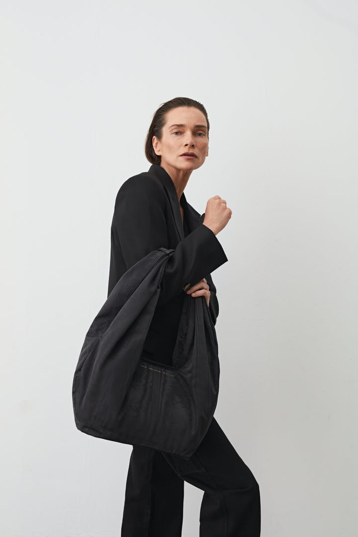 Big Hobo Bag Moiré Black