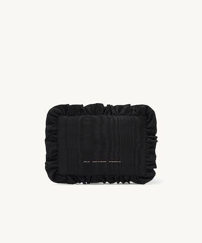 Pillow Clutch Moiré Black