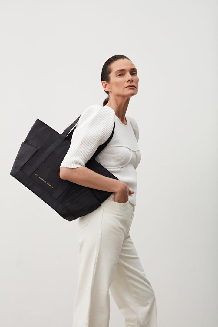 Shopper Bag Moiré Black