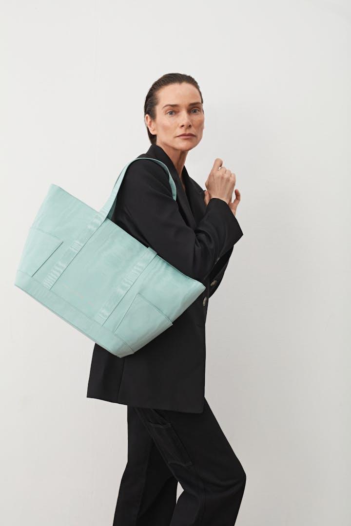 Shopper Bag Moiré Blue