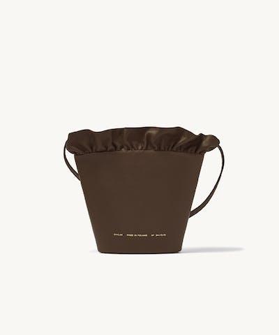 Kubełek z Falbanką kawowy